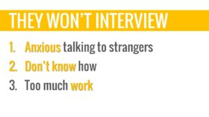 motivating students to interview customer