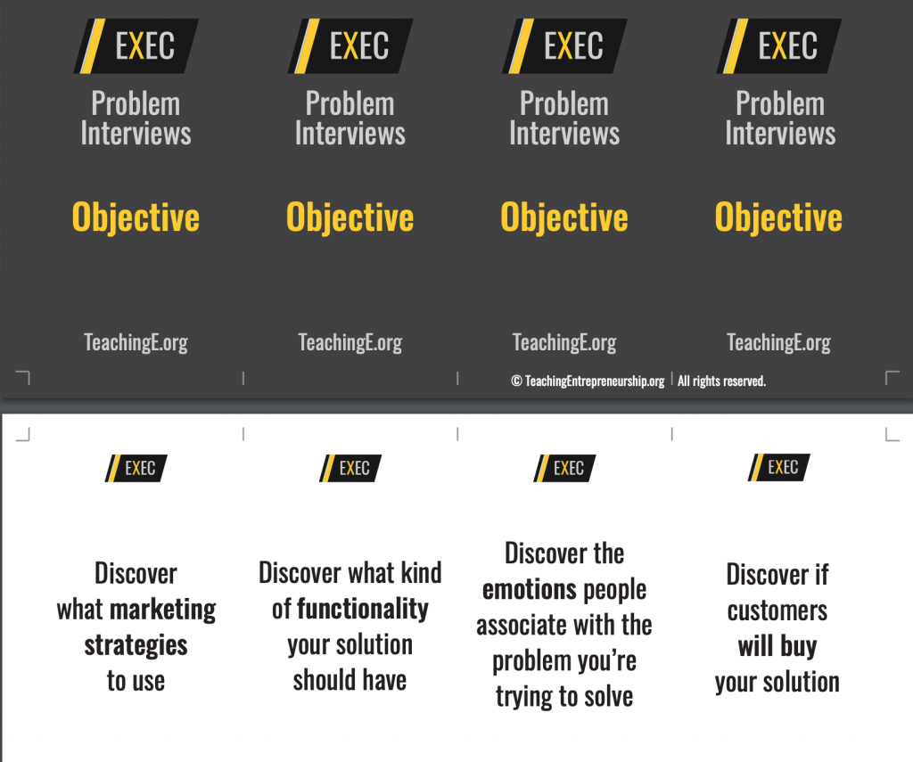 Customer interview cards