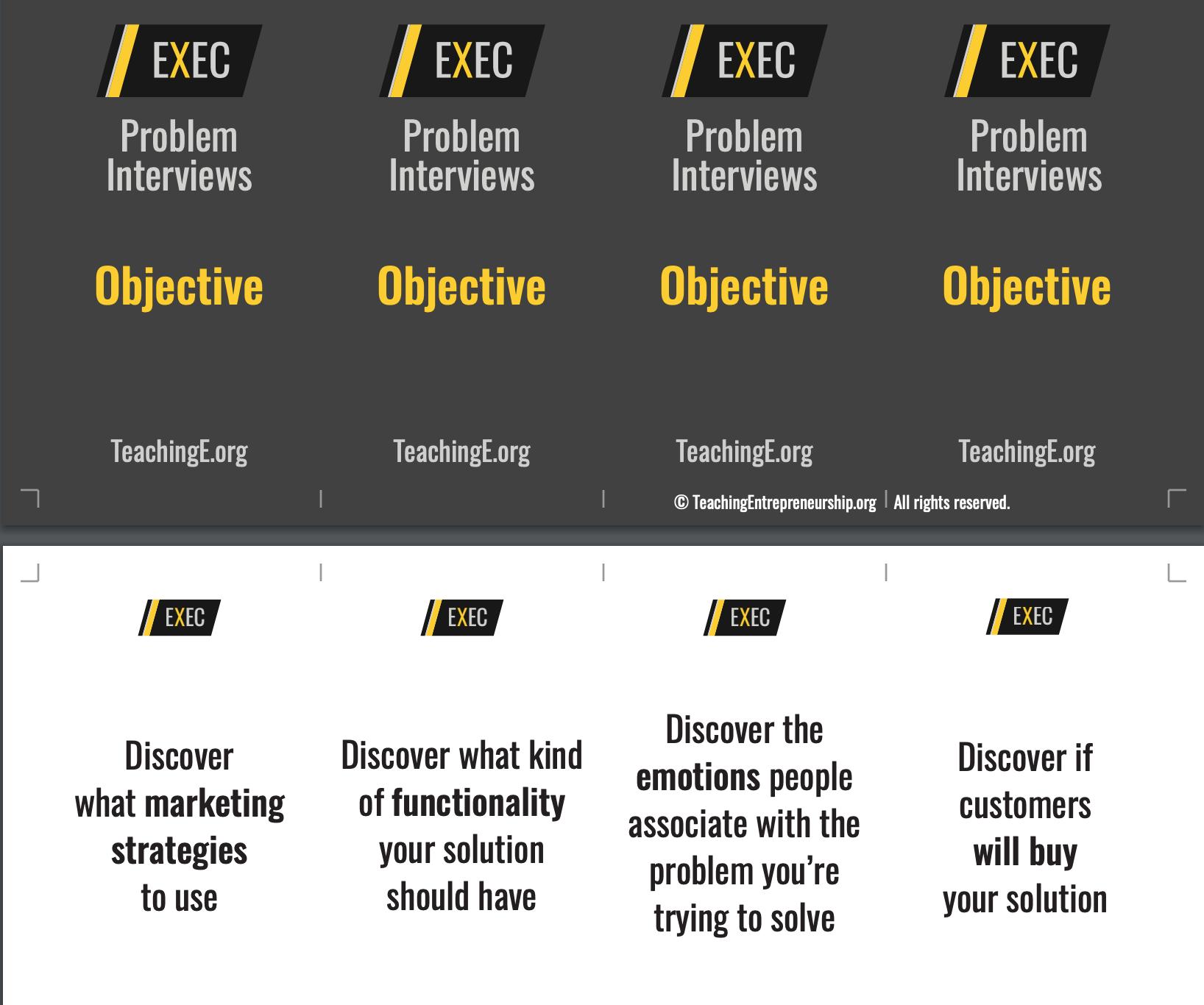 customer interviewing teaching entrepreneurship