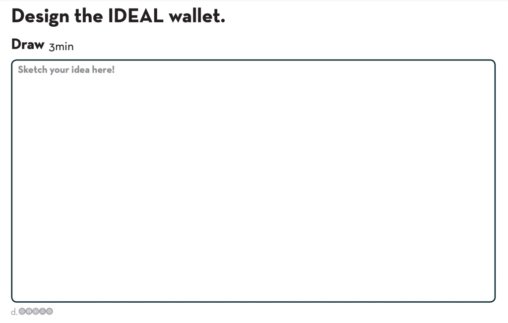 design the ideal wallet worksheet
