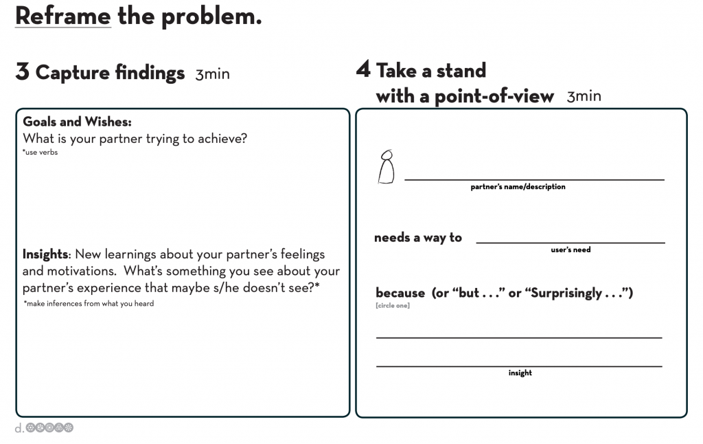 Reframe the problem worksheet