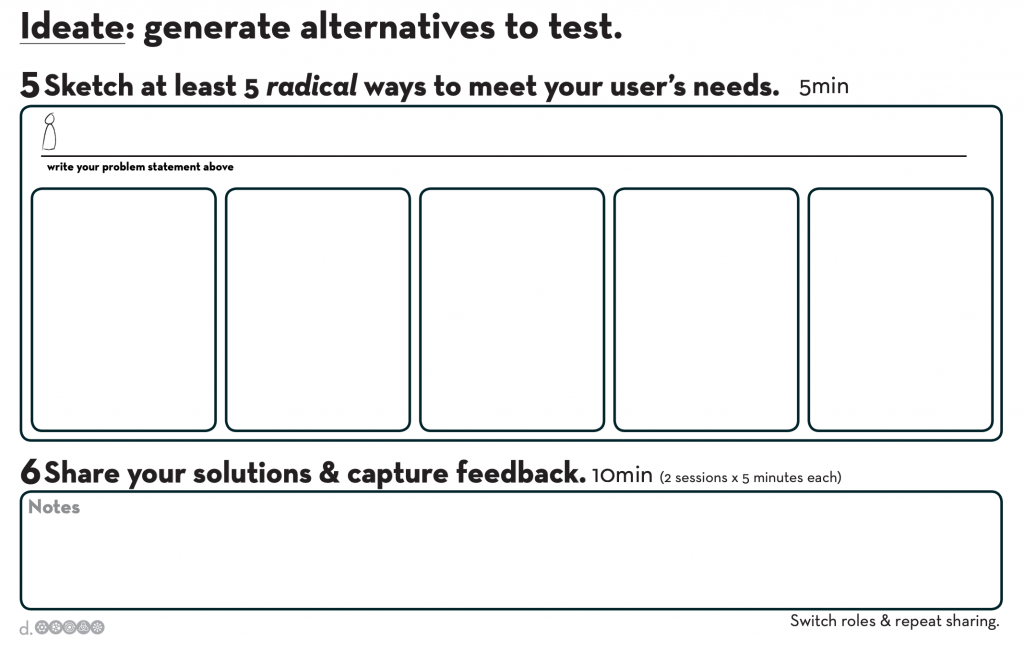 Ideate worksheet