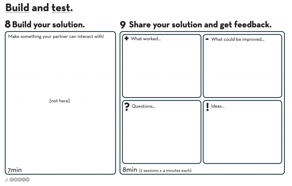 build and test worksheet