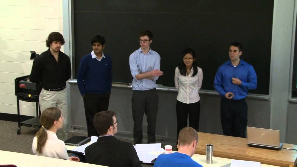 Class presentation by students