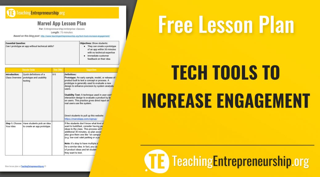 Tech Tools to Increase Engagement Teaching Entrepreneurship