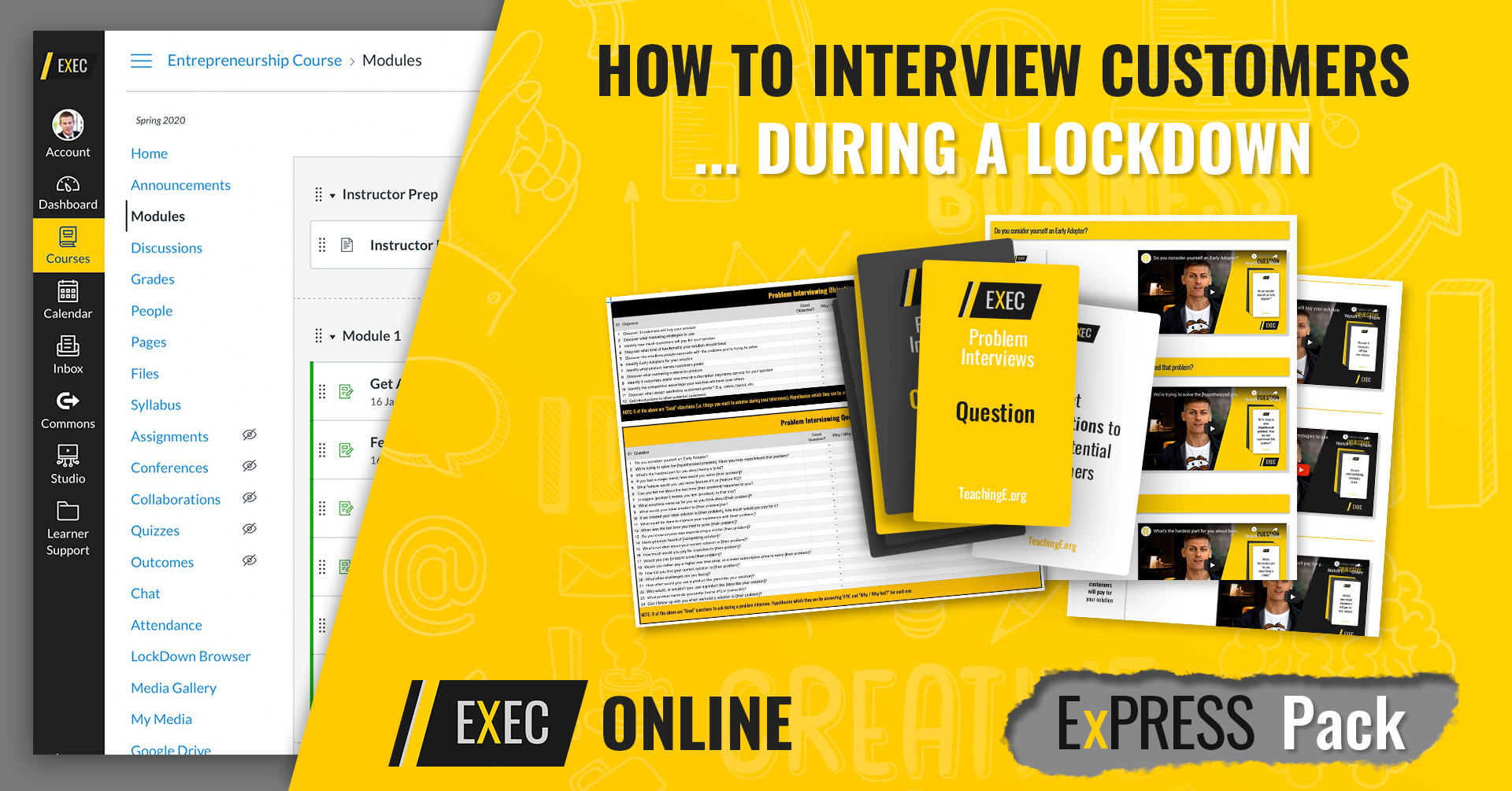 Express Pack Entrepreneurship Lessons Online: Interviewing Customers