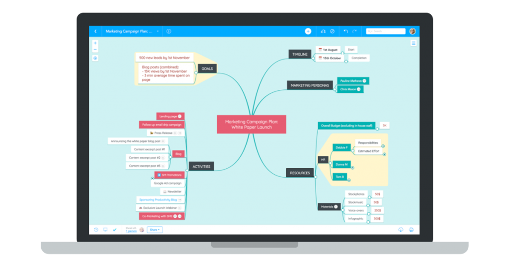 MindMeister online mind mapping tool