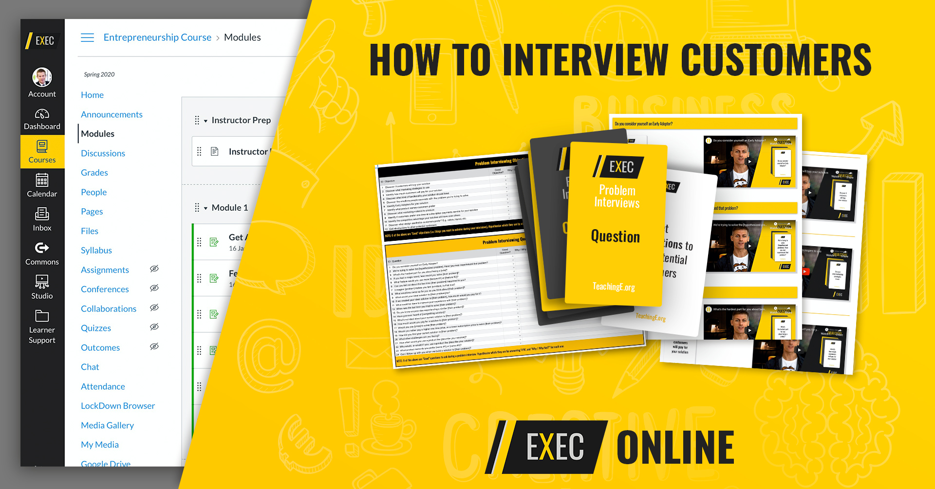 Learn to Interview Customers