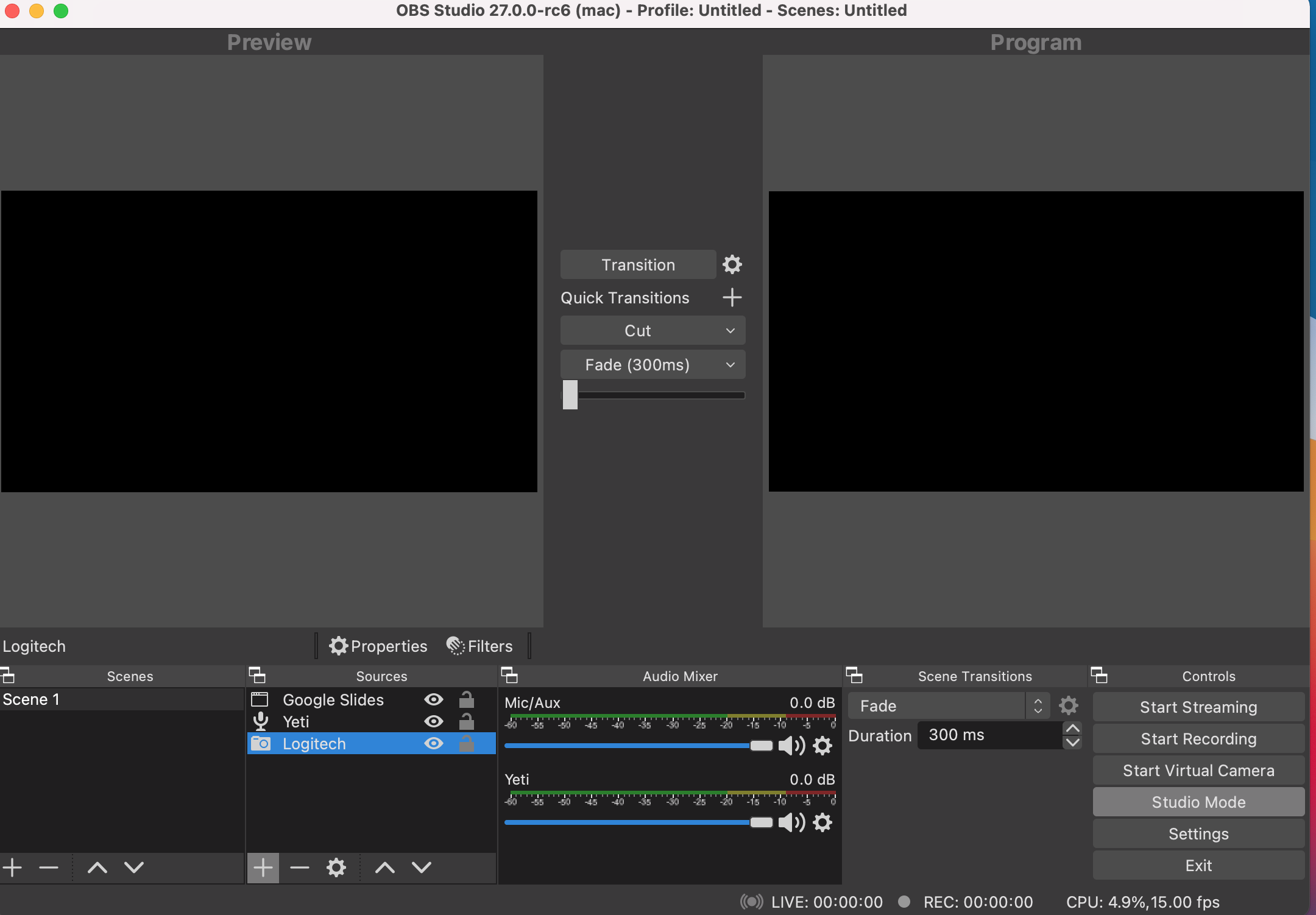 Using OBS as a Virtual Camera