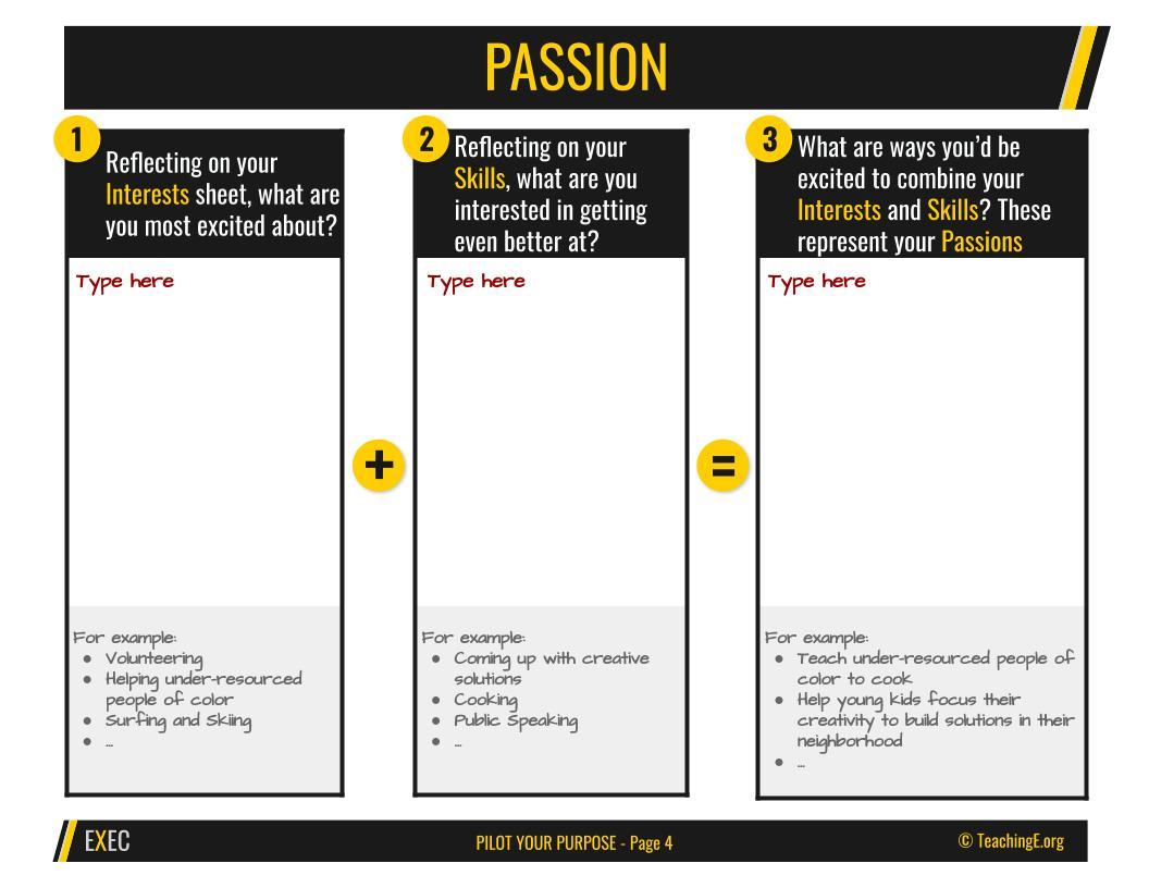 Pilot Your Purpose: Passion