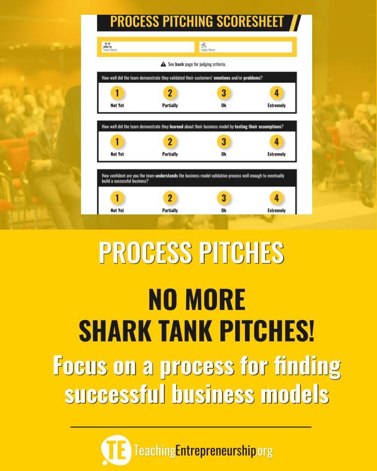 Improving Student Pitches - Teaching Entrepreneurship