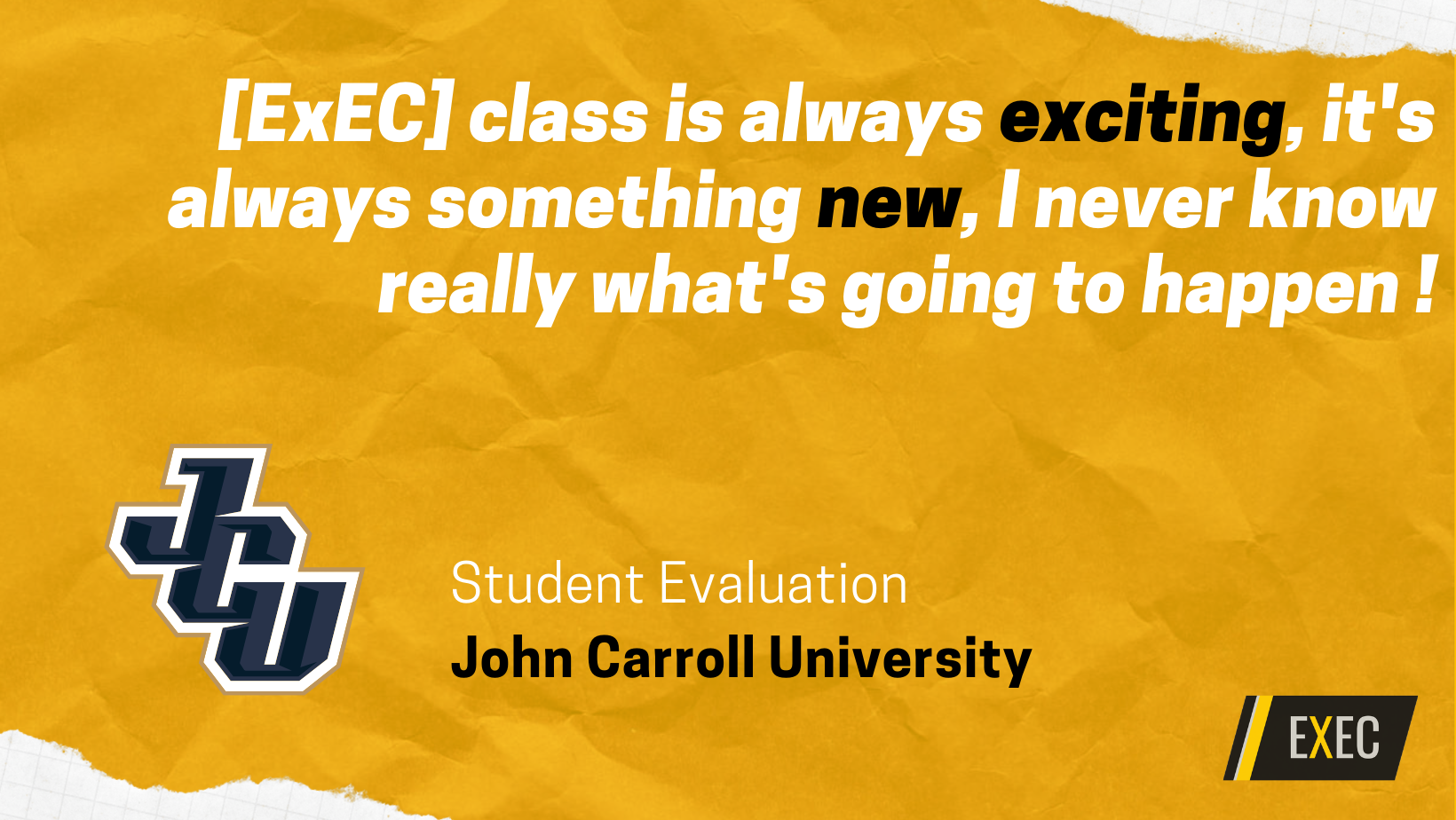 Improve student evaluations with ExEC