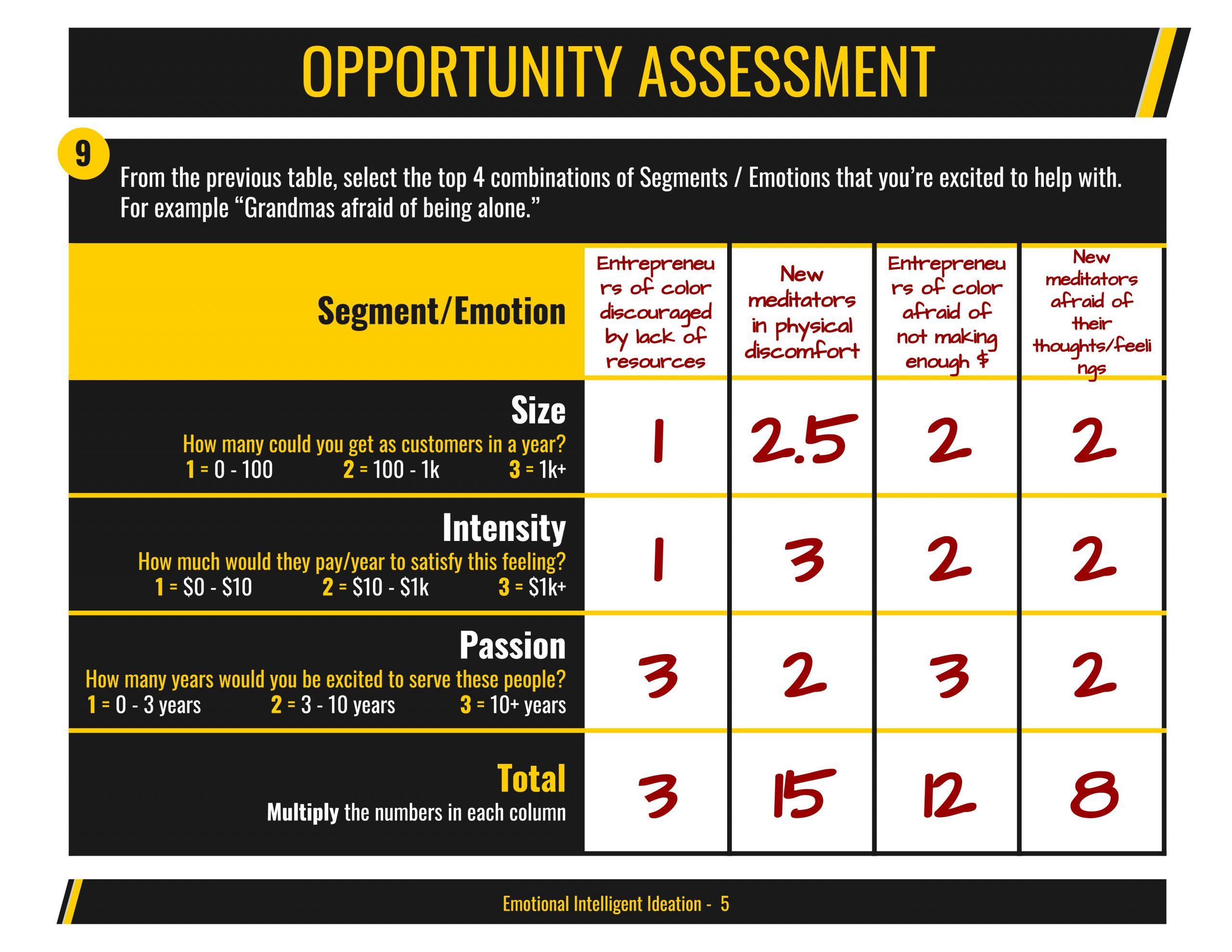 Opportunity assessment